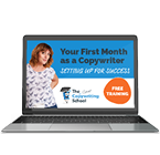 Your first month as a copywriter free webinar